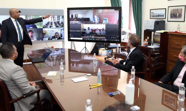 Visita Embajada Norteamericana instalaciones del Poder Judicial